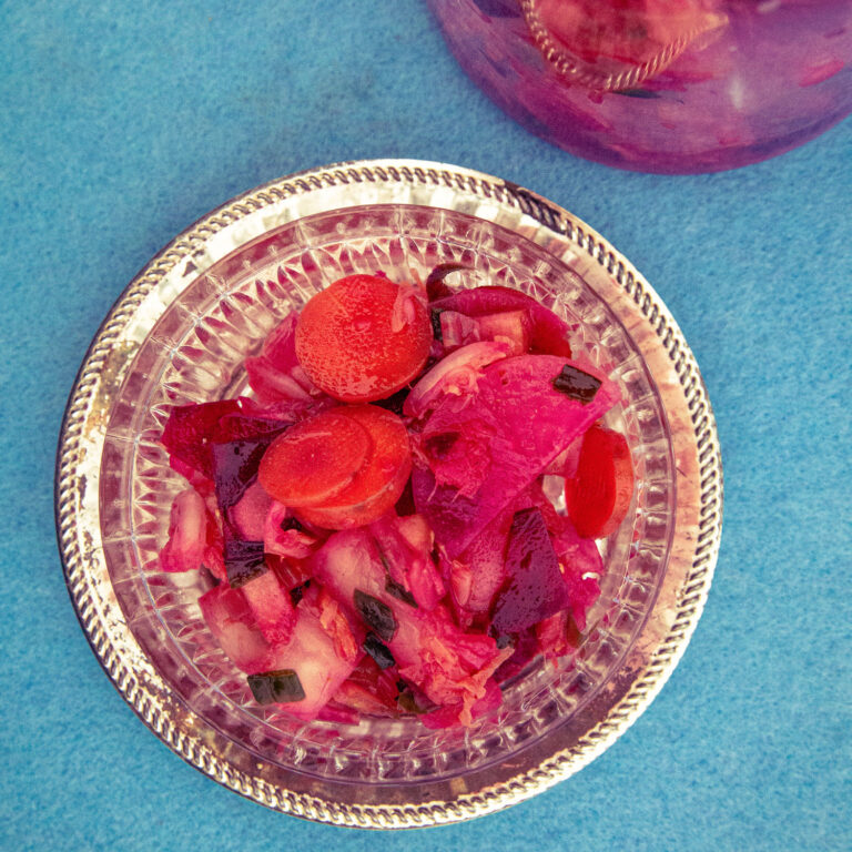 Pretty in Pink: Veganes Nordheide-Kimchi