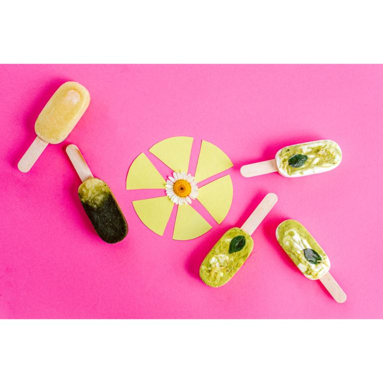 Basilikum-Joghurt- & Zucchini-Minz-Eis