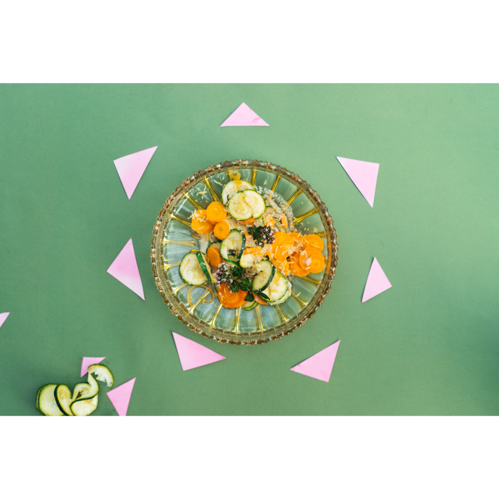 Zucchininudeln mit Möhren-Zitronen-Soße